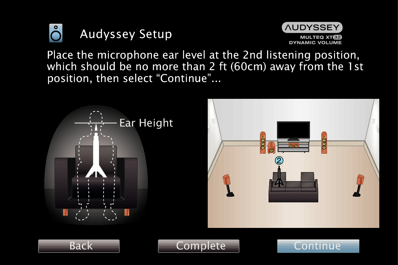 Procedure for speaker settings (Audyssey® Setup) AVR-X4100W